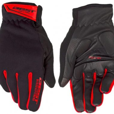 GUANTES BEST LARGOS GEL WINTER FRIO FULL PROTECT BLK/RED