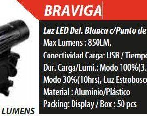 FOCO LED BRAVIGA 850LM USB COOL TOUCH 00825