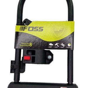 CANDADO FOSS U-LOCK 110X230MM C/SOPORTE NEGRO 18026